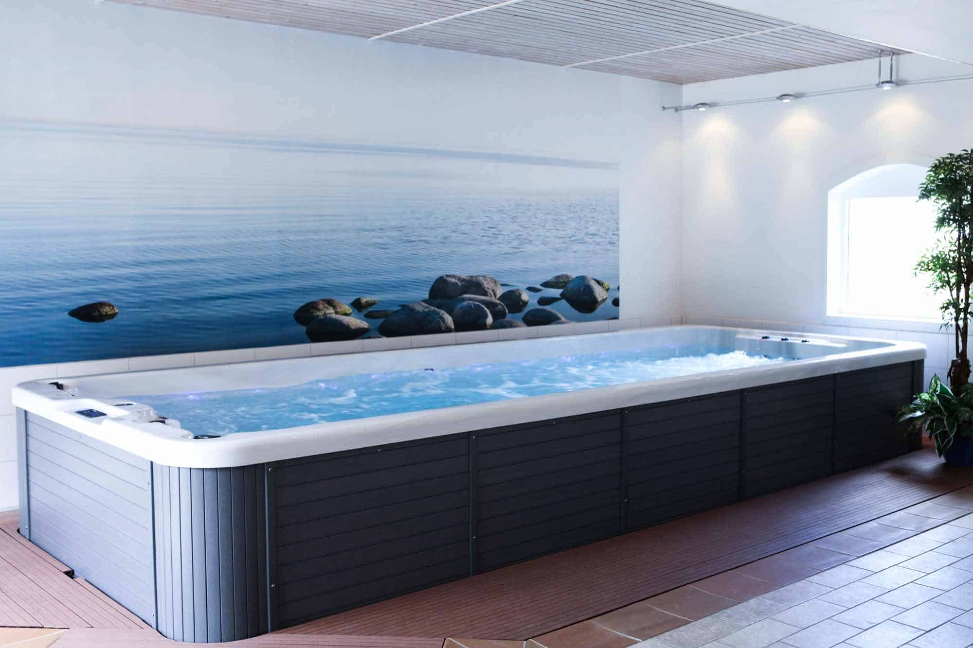 How are swim spas delivered?
